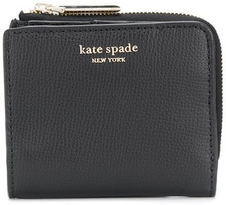 Kate Spade Sylvia grained logo print wallet