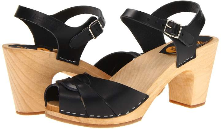 Swedish Hasbeens Peep Toe Super High Women's Sandals