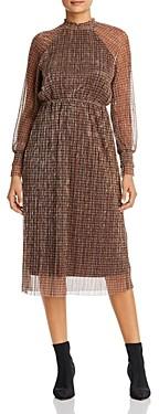 Vero Moda Alexandra Long-Sleeve Checked Dress
