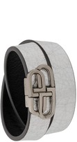 Balenciaga BB double wrap bracelet