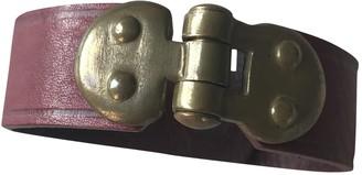 Isabel Marant Burgundy Leather Bracelets