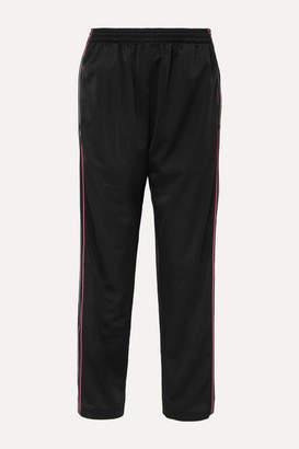 Balenciaga Striped Satin-jersey Track Pants - Black