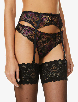 Aubade Aube Amoureuse high-rise stretch-lace suspender belt
