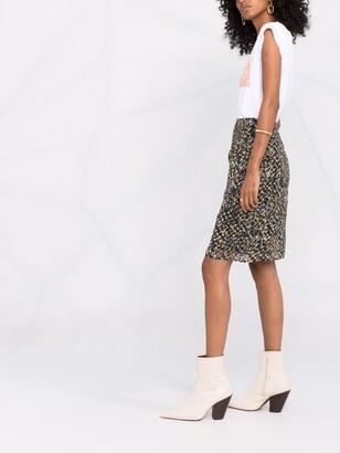 Lala Berlin Spray Print Straight Skirt