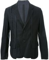 Yohji Yamamoto piping single jacket - men - Cotton - 2