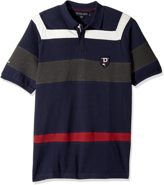 U.S. Polo Assn. Men's Classic Fit Color Block Short Sleeve Pique Polo Shirt