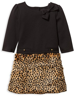 Janie and Jack Baby's, Little Girl's & Girl's Faux Fur Leopard Skirt Dress