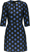 Suno Polka-dot jacquard mini dress