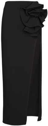 Magda Butrym High Waist Stretch Wool Crepe Skirt