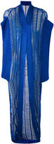 Balmain knitted kimono cardigan - women - Acrylic/Polyester - 38