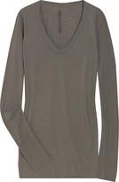 Rick Owens Lilies Long-sleeved wool-jersey top