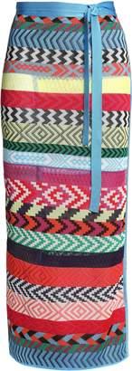 Mary Katrantzou Evaris Striped Jacquard-knit Maxi Wrap Skirt