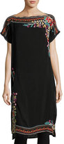 Johnny Was Janice Embroidered Long Tunic, Plus Size