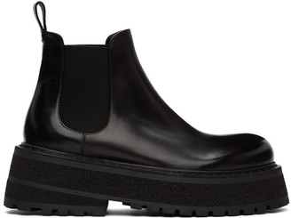 Marsèll Black Carretta Beatles Chelsea Boots