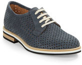 Aquatalia Zola Perforated Leather Oxfords