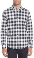 BOSS Men's Lance Regular Fit Buffalo Plaid Sport Shirt