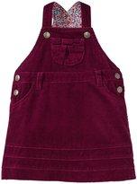 Jo-Jo JoJo Maman Bebe Cord Dungaree Dress (Baby) - Plum-12-18 Months