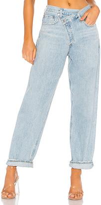 A Gold E AGOLDE Criss Cross Upsized Jean