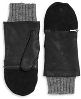 Echo Leather and Wool Convertible Gloves