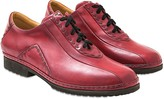Pakerson Burgundy Italian Hand Made Leather Lace-up Shoes