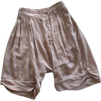 Pinko Pink Silk Shorts for Women