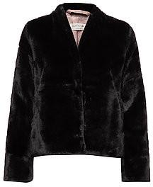 Rosemunde Short Faux Fur Jacket Black - 42