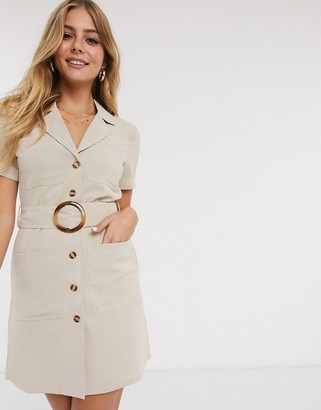 Brave Soul hutton utility shirt dress