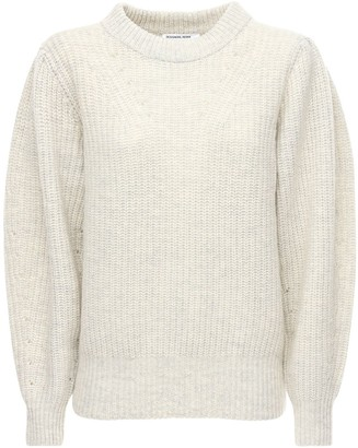 Designers Remix Silvia Wool Knit Sweater W/ Puff Sleeves