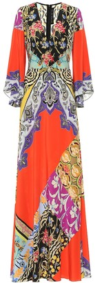 Etro Printed silk-crApe maxi dress