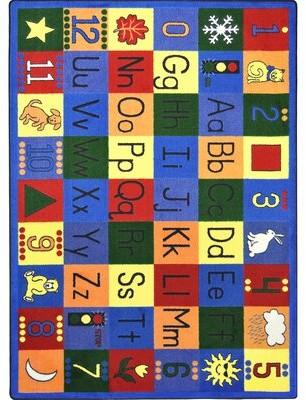 "Joy Carpets Educational Around the Block Area Rug Rug Size: 5'4"" x 7'8"""