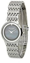 Pierre Cardin Women's PC900882001 Classic Analog Diamond Accented Black Mother-Of-Pearl Dial Watch