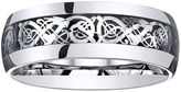 JCPenney MODERN BRIDE Personalized Mens Filigree Inlay Stainless Steel Wedding Band