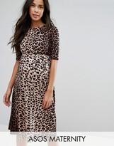 Asos Midi Dress in Leopard Print