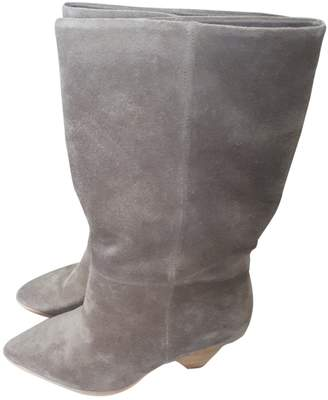 Free People Grey Suede Boots