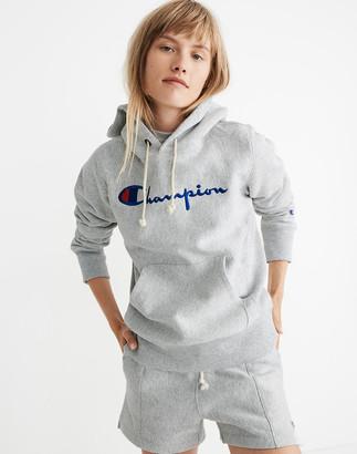 Madewell Champion Big Script Logo Pullover Hoodie Sweatshirt