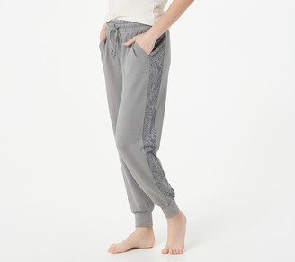 AnyBody Cozy Knit French Terry Animal Print Jogger Pant