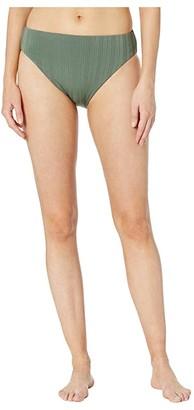Vince Camuto Ripple Effect Reversible High Leg High-Waist Bottoms (Iguana) Women's Swimwear