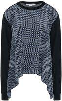 Stella McCartney tie print large volume silk sweater