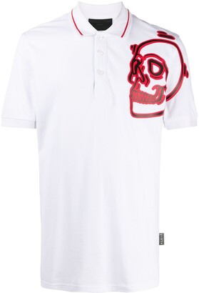 Philipp Plein Skull Print Polo Shirt