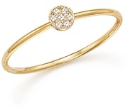 Zoë Chicco 14K Yellow Gold Itty Bitty Round Disc Pave Diamond Stack Ring