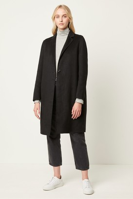 French Connection Anya Wool Single Breasted Coat