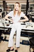J Brand Joan High-Rise Wide-Leg Crop In Optic White