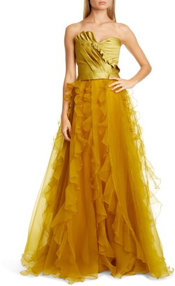 Flor Et. Al Veracruz Ruffle Organza Ball Skirt