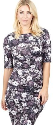 M&Co Izabel floral fitted shift dress