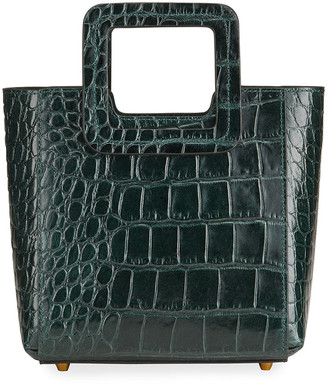 STAUD Mini Shirley Mock-Croc Tote Bag