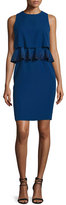 Armani Collezioni Embroidered-Peplum Popover Dress, Royal Blue