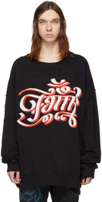 Faith Connexion Black Destroyed Over Sweatshirt