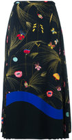 Fendi printed cady mid-length skirt - women - Viscose/Silk - 40