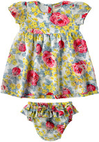 Cath Kidston Sketched Rose Baby Layer Dress And Brief