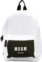 MSGM logo print backpack - men - Polyamide - One Size